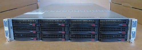 Supermicro 4 Node Server 6027TR-HTQRF 8 x TEN-CORE E5-2680v2 2.8GHz 128GB RAM